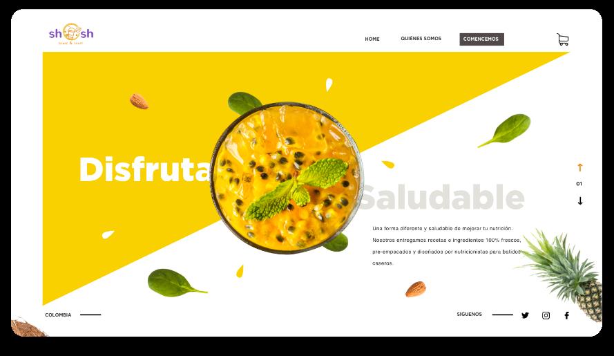 Shake and Shape webpage